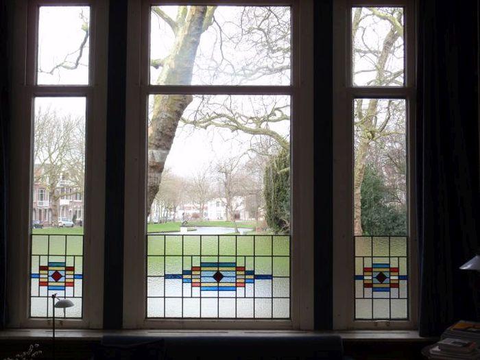 Verwonderend Glas-in-lood tegen inkijk, Purmerend 2013 VS-02
